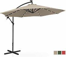 Parasol Avec LED Solaire De Terrasse Déporté