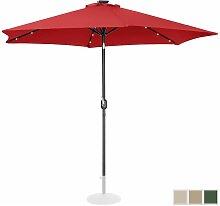 Parasol Avec LED Solaire De Terrasse Droit Jardin