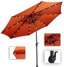 Parasol de jardin inclinable 3m avec éclairage 24