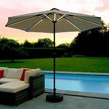 Parasol de Jardin Lumineux Solaire Beige Ø 270 cm