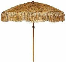 Parasol de plage en paille Palloza Marron -