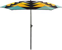 Parasol de plage en textile recyclé ambré