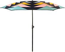 Parasol de plage en textile recyclé pastel