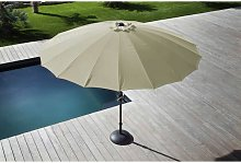 Parasol inclinable fibre pagode 300 cm / 18