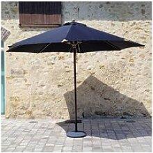 Parasol noir en bois 350 cm bilbao