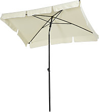 Parasol rectangulaire inclinable beige clair