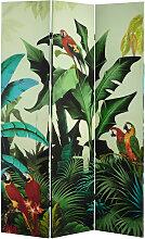 Paravent imprimé tropical L 121 cm