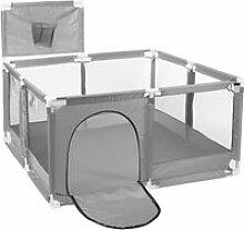 Parc avec panier Pour Bébé - 126x126x109cm - GRIS