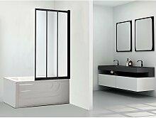 Pare-baignoire DOLANE - 80x140cm - Noir