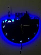 Paris Metal Horloge murale LED