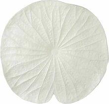 Paris Prix - Coupelle Déco lotus 48cm Blanc