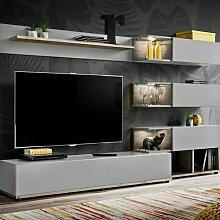 Paris Prix - Ensemble Meuble Tv Design silk 240cm