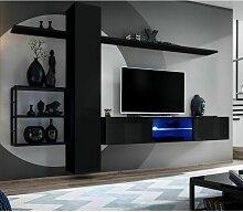 Paris Prix - Ensemble Meuble Tv switch V 270cm Noir