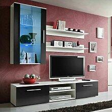 Paris Prix - Meuble Tv Mural Design galino V White
