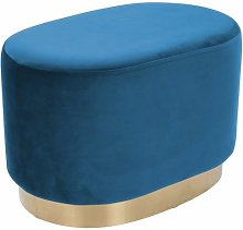 Paris Prix - Pouf Design nano 55cm Bleu