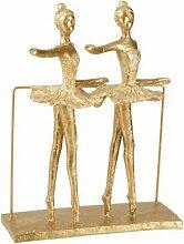 Paris Prix - Statuette Déco 2 Ballerines 30cm Or
