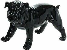 Paris Prix - Statuette Déco bulldog 40cm Noir