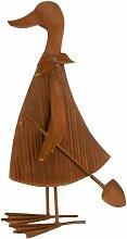 Paris Prix - Statuette Déco canard 49cm Rouille