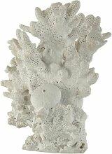 Paris Prix - Statuette Déco corail 24cm Blanc