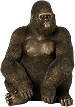 Paris Prix - Statuette Déco gorille 91cm Marron