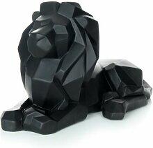 Paris Prix - Statuette Déco lion 35cm Noir