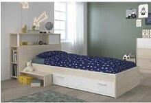 PARISOT Ensemble lit + tête de lit avec rangement