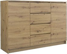 PARME | Commode contemporaine 120x40x97 2 portes +