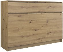 PARME | Commode contemporaine 120x40x97 3 portes &