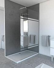 Paroi de douche a l'italienne - 120x200cm AVEC