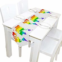 Parti 13x70 pouces de long chemin de table