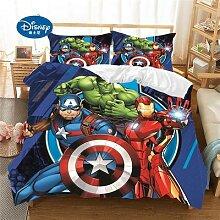 Parure de lit 3D motif dessins animés, Disney,