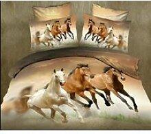 parure de lit cheval galop, ensemble de literie