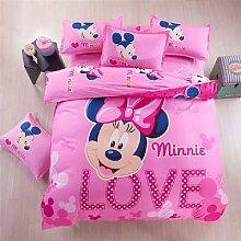 Parure de lit Disney, housse de couette et taie