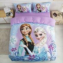 Parure de lit Disney pour filles, housse de