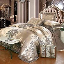 Parure de lit en Jacquard de luxe, ensemble de