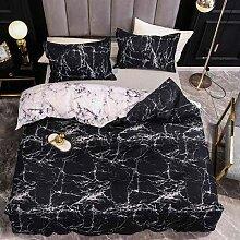 Parure de lit en marbre, ensemble de literie doux