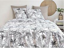 Parure de lit en percale de coton PALMIA - housse