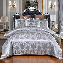 Parure de lit européenne en soie avec imprimé
