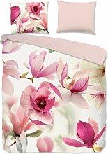 Parure de lit FLORINE - Rose - 200x200 - Rose