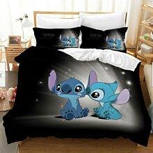 Parure de lit motif dessins animés Disney Stitch,