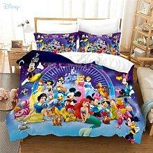 Parure de lit motif personnages Disney en 3d,