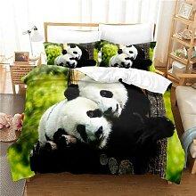 Parure de lit Panda, ensemble de literie pour