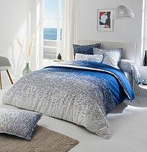 Parure de lit Reflets Outremer en coton