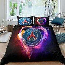 Parure de lit réversible Motif Football PARIS