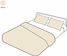 Parure de lit uni naturel en coton