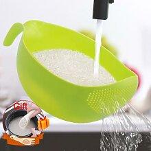 Passoire à riz en plastique, filtre de lavage du