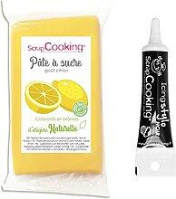 Pâte à sucre jaune sans gluten arôme citron 250