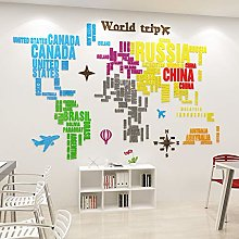 Pâte De Mur De Carte Du Monde De Décoration De
