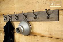 patère murale bois métal