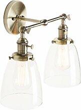 Pathson Réglable 2 Luminaires Applique Abat-jour